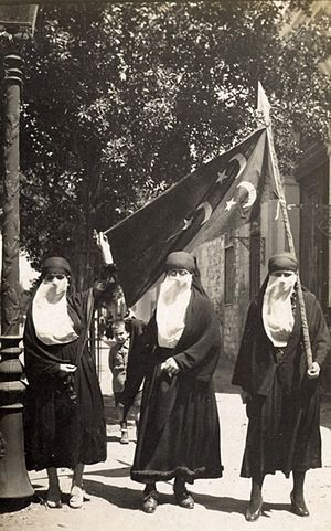 History of Egypt under the British - Female nationalists demonstrating in Cairo in 1919