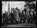 Calvin Coolidge and group outside White House, Washington, D.C. LCCN2016892826.tif