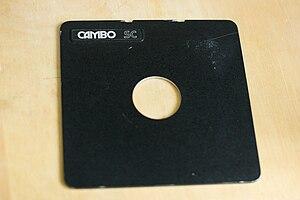 Lens board - Image: Cambo lens board