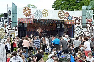 Strawberry Fair - The steampunk-themed stage at Strawberry Fair 2011.