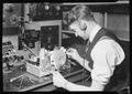 Camden, New Jersey - Radio. RCA Victor. Final Inspector - testing radio frequency alignment and making final test of... - NARA - 518704.tif