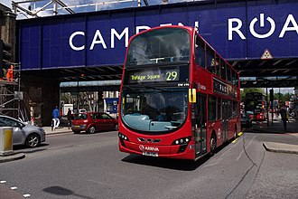 London Buses route 29 - Arriva London Wright Gemini 2 bodied VDL DB300 in Camden Town in June 2012