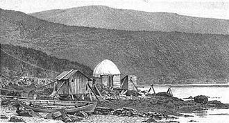 1874 Transit of Venus Expedition to Campbell Island - Observatory built by the expedition on Campbell Island, 1874.