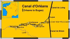 Canal d'Orléans - Image: Canal d'Orléans Map