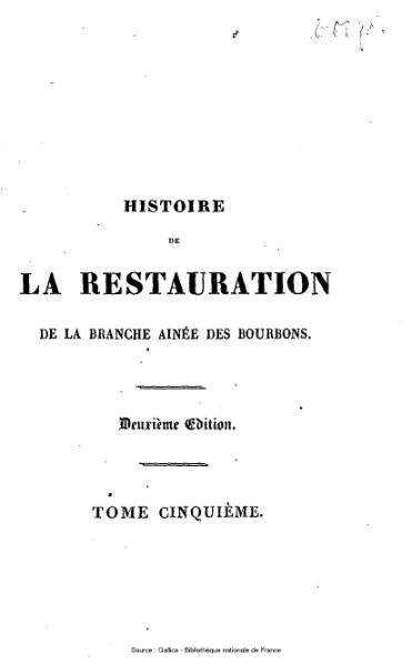 File:Capefigue - Histoire de la Restauration, tome 5.djvu