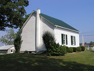 Capon Chapel - South and east sides viewed from the southwest lawn