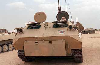MT-LBu - Iraqi MT-LBu captured by the Coalition Forces during Operation Desert Storm.
