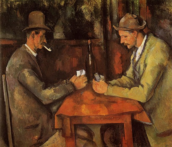 Worth £175 million today. Card Players (5th version ca.1894-1895) by Paul Cezanne is the most expensive painting in the world. For now... (image from Musée d'Orsay)