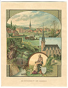 Carl Grote Litho Das Stephansstift vor Hannover