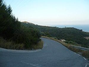 Carretera de acceso al Parque.JPG