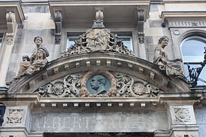 Amelia Robertson Hill - Carving on the Albert Buildings, Shandwick Place, Edinburgh