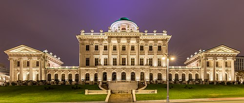 Дом Пашкова в Москве ночью
