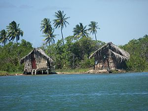Protected areas of Brazil - Fishing houses in the Piaçabuçu Environmental Protection Area