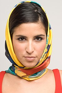 Casol square silk scarf as head scarf.jpg