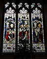Castle Hedingham, St Nicholas' Church, Essex England, stained glass window south chapel.jpg