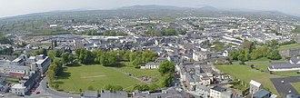 Castlebar - Aerial view of Castlebar