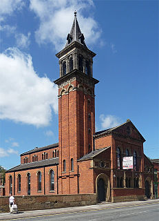 Castlefield Congregational Chapel grade II listed architectural structure in Manchester, United kingdom