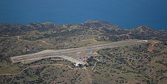 Catalina Airport - Aerial view of the airport from the East.