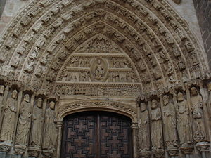 Ávila Cathedral - Detail of the north door of the Cathedral of Ávila.