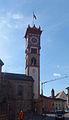 Cavalese - campanile chiesa di San Sebastiano.JPG