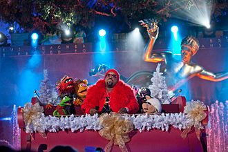 The Muppets - The Muppets performing with CeeLo Green at Rockefeller Center in 2012.