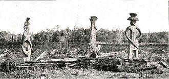 Mapuche history - Mapuche graveyard.