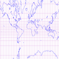 Central cylindrical projection of world with grid.png