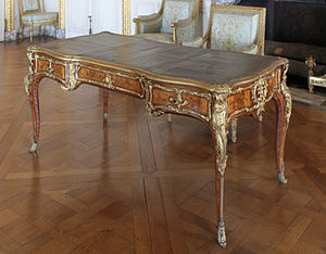 Bernard II van Risamburgh - Bureau plat by BVRB, delivered in 1745 for the Grand cabinet du Dauphin, Versailles
