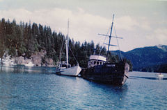 Chacon after being re floated, somewhere in Kachemak Bay.