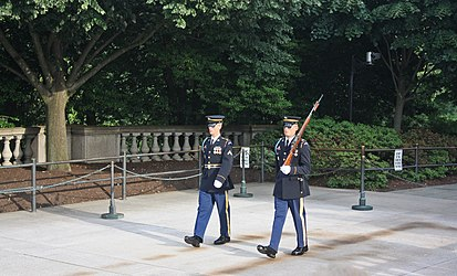 Changing of the Guard at the Tomb of the Unknowns in Arlington National Cemetery 3.jpg