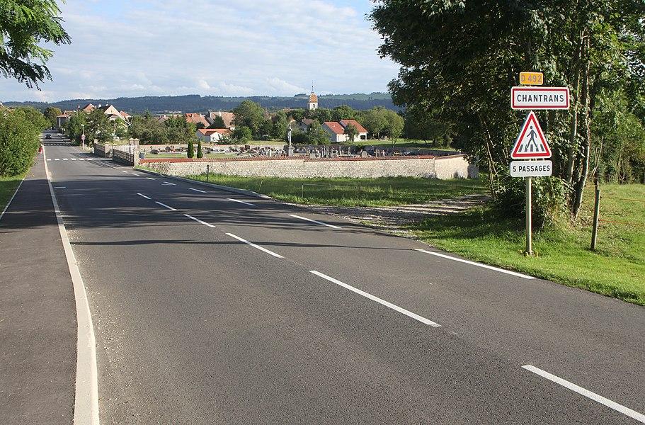 Entrée de Chantrans (Doubs).