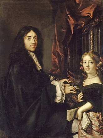 Claude Lefèbvre - Charles Couperin and the painter's daughter, c. 1665–1670