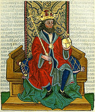 Charles III of Naples - Charles as depicted in the Chronica Hungarorum