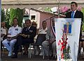 Charles Rivkin, foreground right, U.S. ambassador to France, speaks in honor of the 69th anniversary celebration of Allied troops landing in Provence during World War II at a celebration in the town square 130815-N-EZ054-093.jpg
