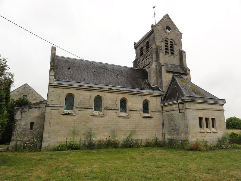 Chavigny (Aisne) église Saint-Marcel (