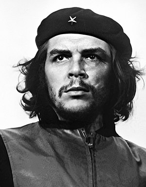 By the late 1960s, Argentine revolutionary Che Guevara's famous image had become a popular symbol of rebellion for the New Left GuerrilleroHeroico.jpg