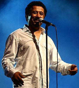 Cheb Khaled performed in Oran on July 5th 2011 (cropped).jpg