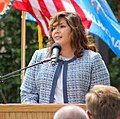 Cherokee Nation Vice President of Government Relations Kimberly Teehee, commenting on her nomination as a delegate to the U.S. Congress, Tahlequah, Oklahoma, Aug. 22, 2019 (cropped).jpg