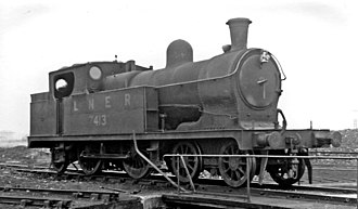 GCR Class 9K - LNER 7413 at Chester Northgate locomotive depot in 1947