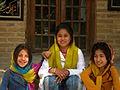Children in Ribat-i-Abbasi of Nishapur (Hossein - Ali - Fatemeh - Hengameh and another girl - probably Afghani) 17.jpg