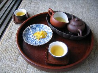Chinese tea culture - A set of equipment for drinking tea