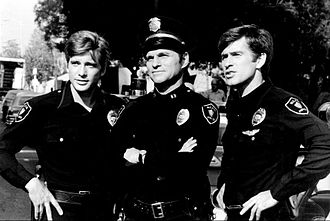 Dirk Benedict - Photo of the cast of the short-lived television program Chopper One. From left: Dirk Benedict, Ted Hartley, Jim McMullan.