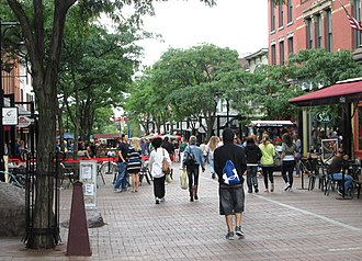 Church Street Marketplace - The Church Street Marketplace, looking south from Bank Street...