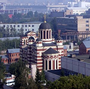 Khodynka Tragedy - An Orthodox church on Khodynka Field commemorating the incident