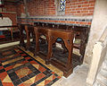 Church of the Holy Trinity - chancel choir stalls - East Grimstead, Wiltshire, England.jpg