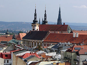 Churches in Olomouc (Czech Republic).