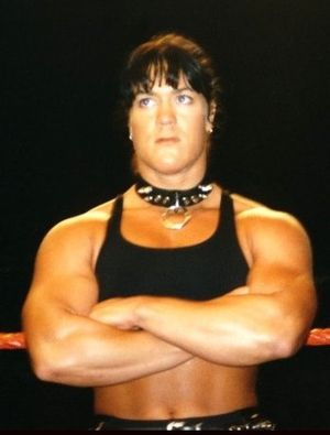 Women in WWE - In 1997, Chyna debuted in the WWF as a tomboy female competitor wrestling male talents
