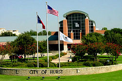 The City Hall of Hurst, Texas.