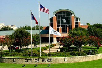 Hurst, Texas - The City Hall of Hurst, Texas.