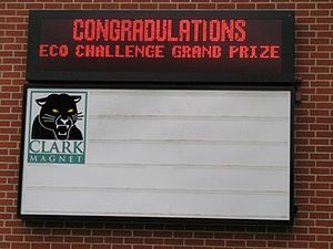Clark Magnet High School - Lexus Eco Challenge winners